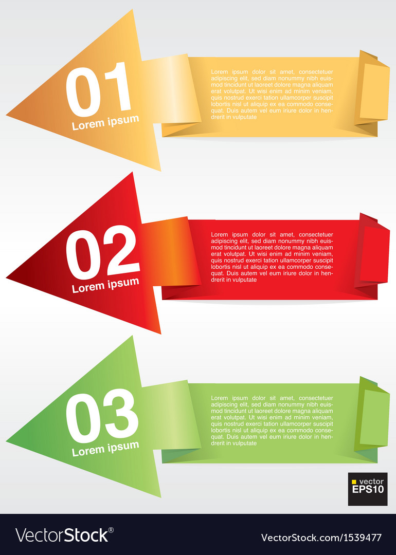 Colorful origami banner template eps10 vector   Price: 1 Credit (USD $1)