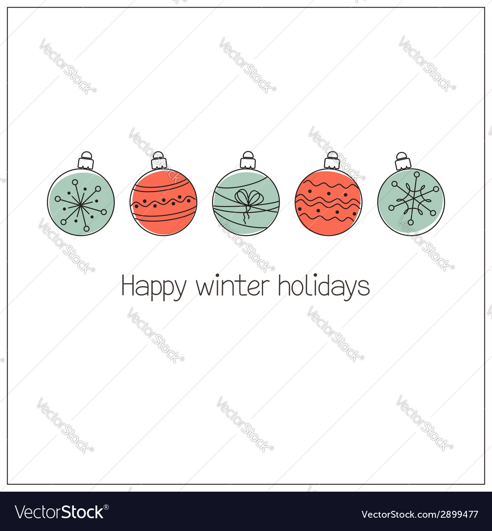Doodle christmas balls vector | Price: 1 Credit (USD $1)