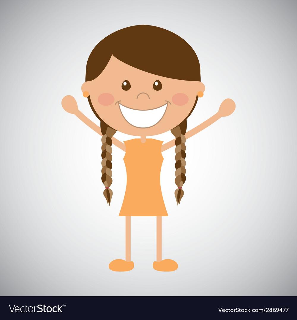 Happy girl vector | Price: 1 Credit (USD $1)