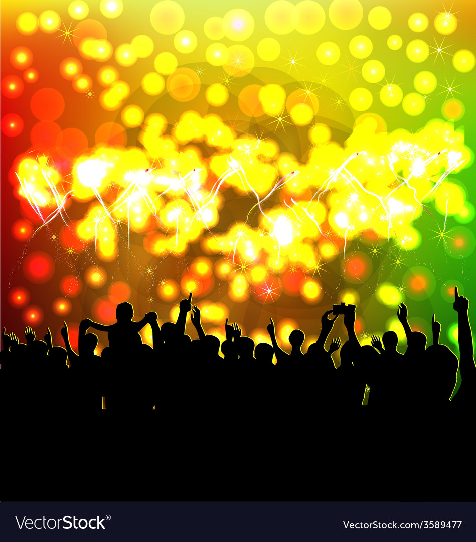 Happy new year with fireworks vector   Price: 1 Credit (USD $1)