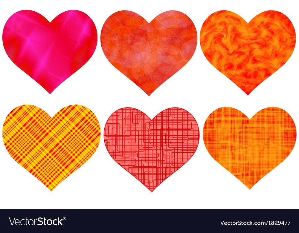 Heart set vector | Price: 1 Credit (USD $1)