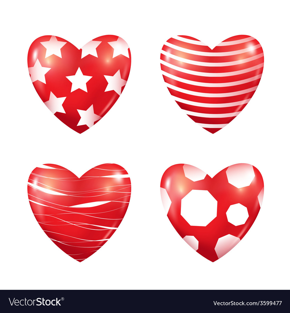 Set of red hearts vector | Price: 1 Credit (USD $1)