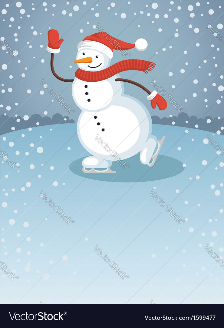 Snowman1 vector | Price: 1 Credit (USD $1)