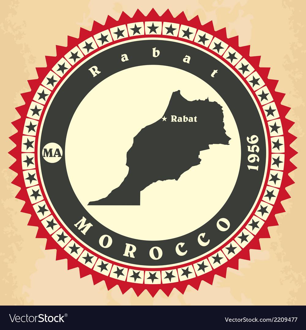 Vintage label-sticker cards of morocco vector   Price: 1 Credit (USD $1)