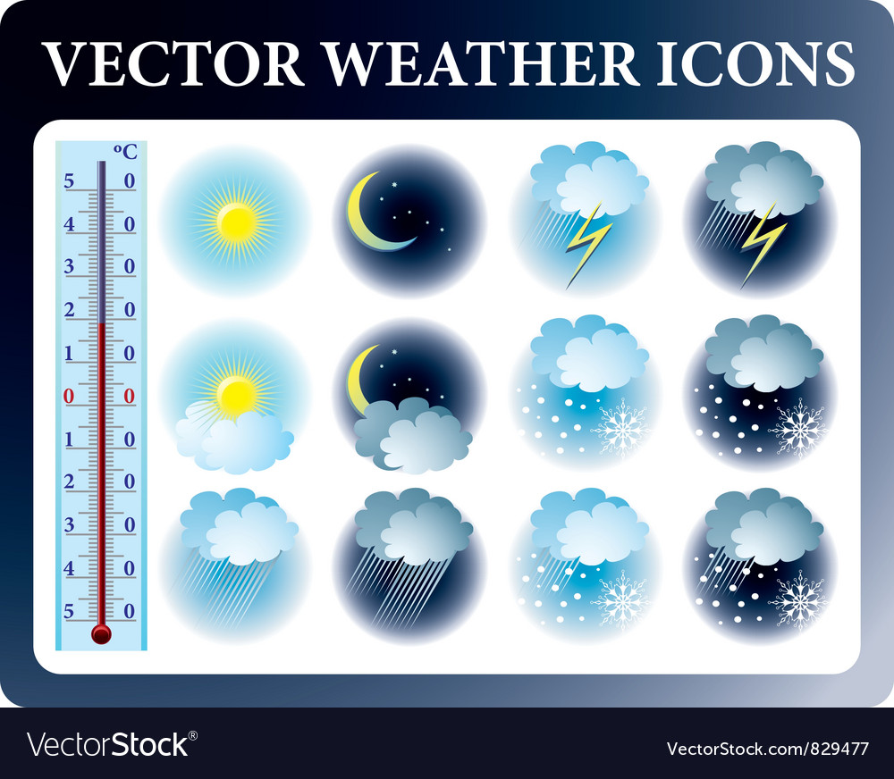 Weather icons vector | Price: 3 Credit (USD $3)