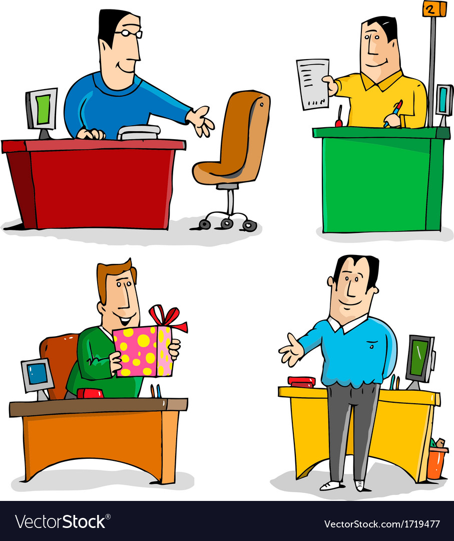 Workers in the office vector   Price: 1 Credit (USD $1)
