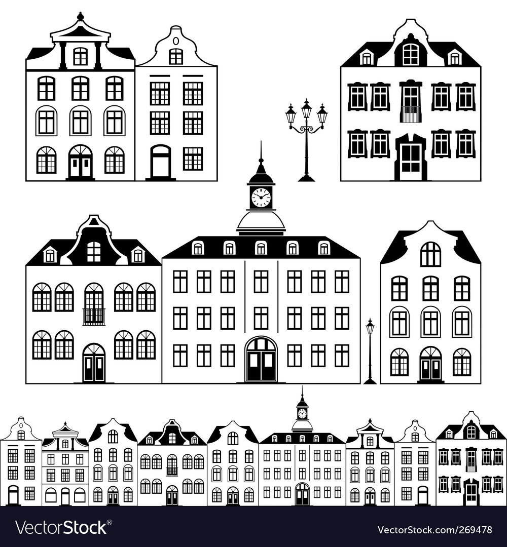 City scene vector | Price: 1 Credit (USD $1)