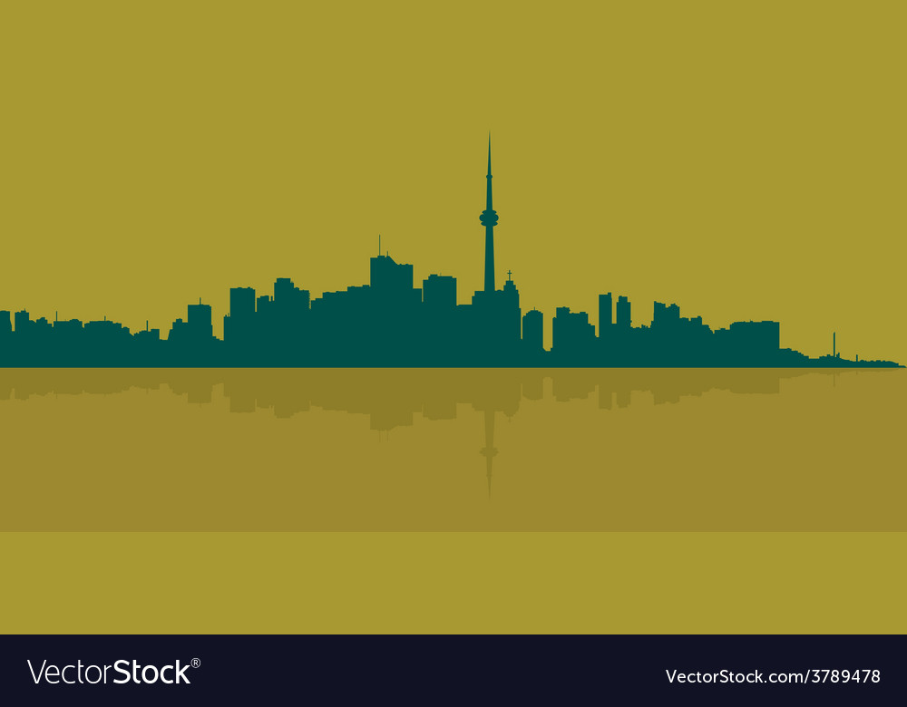 Contour of the big city on a dark yellow vector | Price: 1 Credit (USD $1)