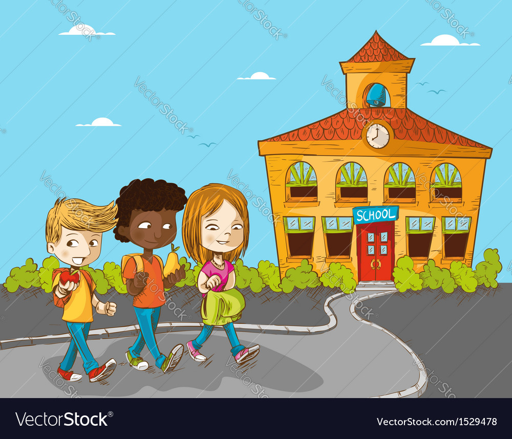 Education back to school cartoon kids vector | Price: 3 Credit (USD $3)