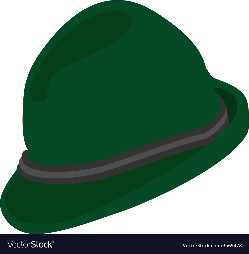 Green german hat vector | Price: 1 Credit (USD $1)