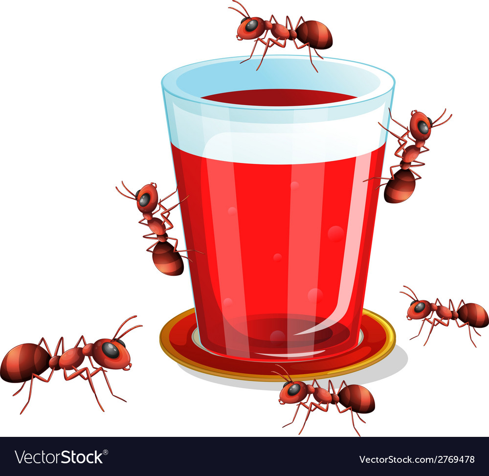 Juice and ants vector   Price: 1 Credit (USD $1)