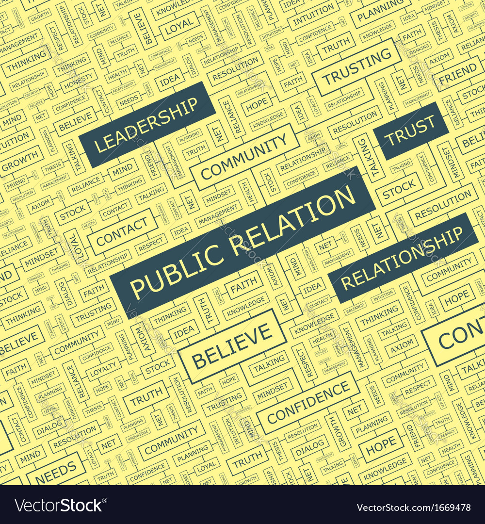 Public relation vector | Price: 1 Credit (USD $1)
