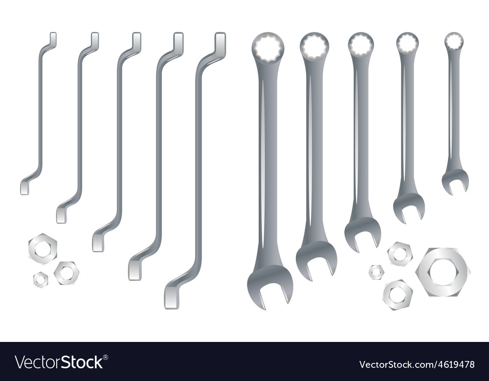 Spanners in order vector | Price: 1 Credit (USD $1)