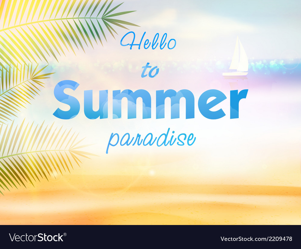 Summer calligraphic design vector | Price: 1 Credit (USD $1)