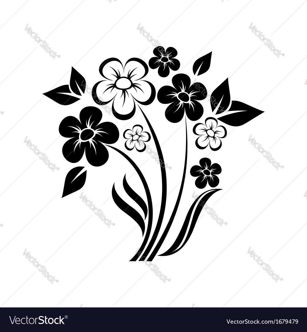 Abstract floral composition of wildflowers vector | Price: 1 Credit (USD $1)