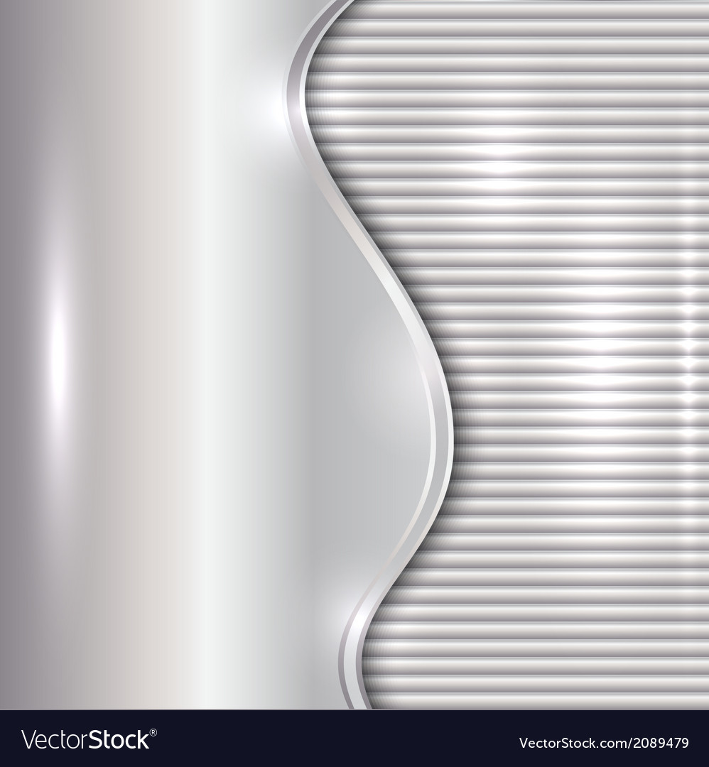 Abstract silver background with curve and stripes vector | Price: 1 Credit (USD $1)