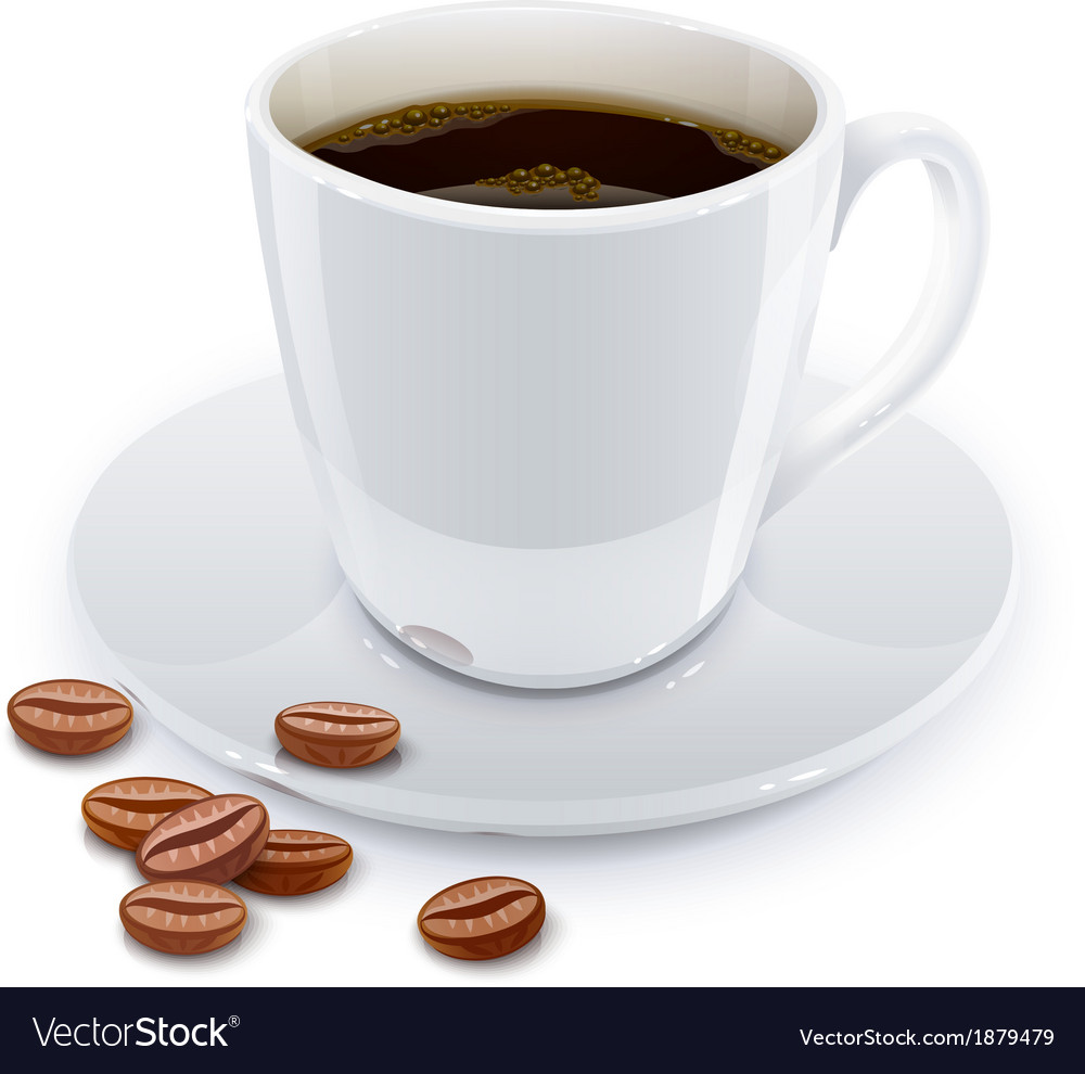 Cup of coffee with grain vector | Price: 1 Credit (USD $1)