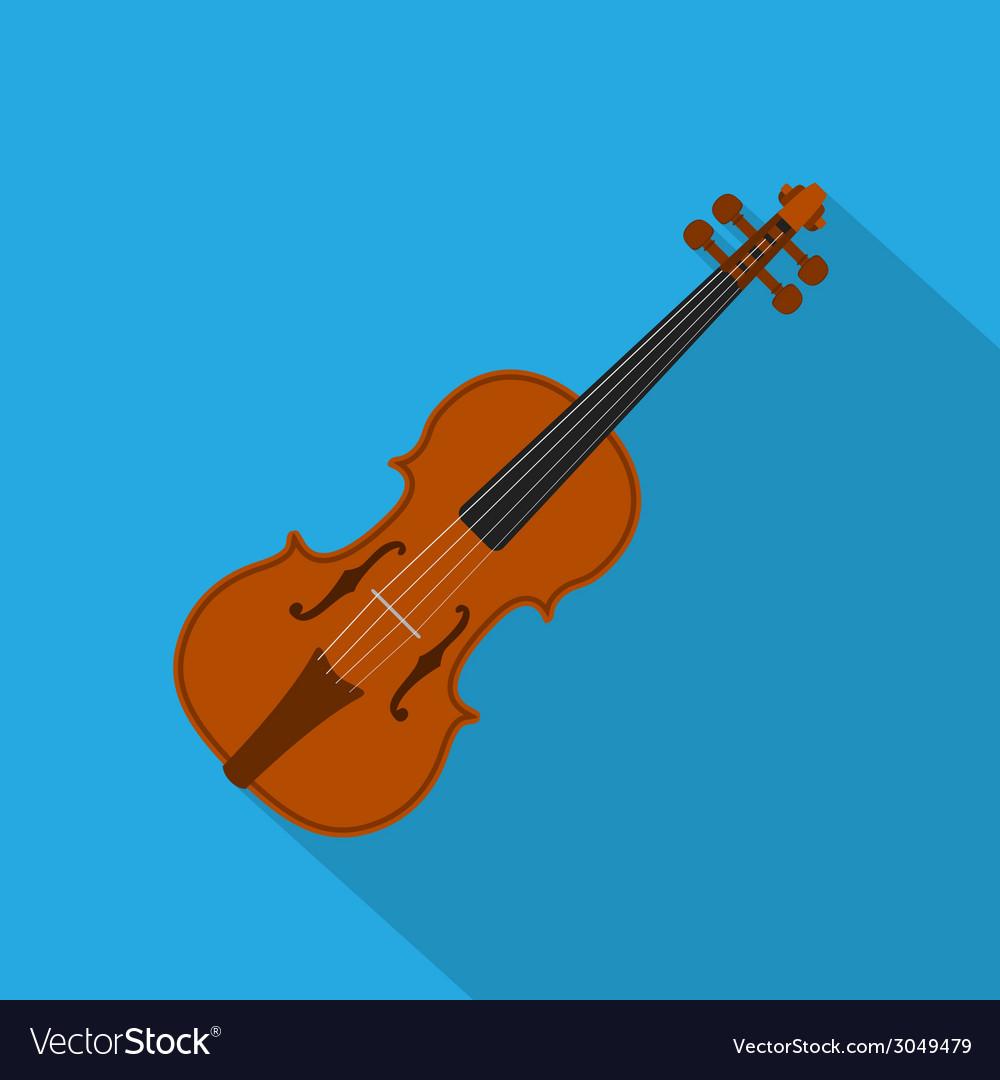 Flat violin vector | Price: 1 Credit (USD $1)