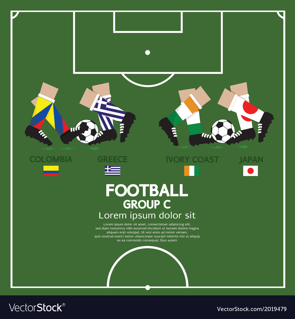 Group c 2014 football tournament vector | Price: 1 Credit (USD $1)