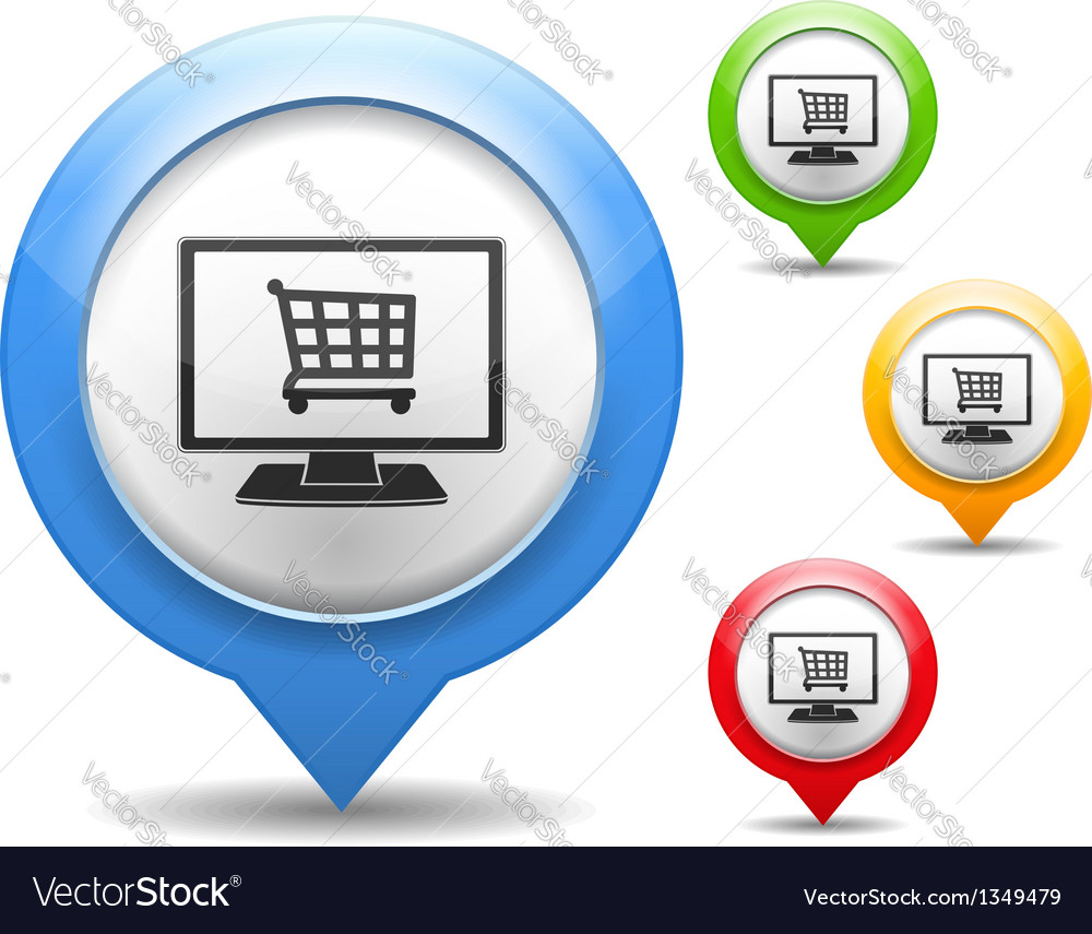 Internet shop icon vector | Price: 1 Credit (USD $1)