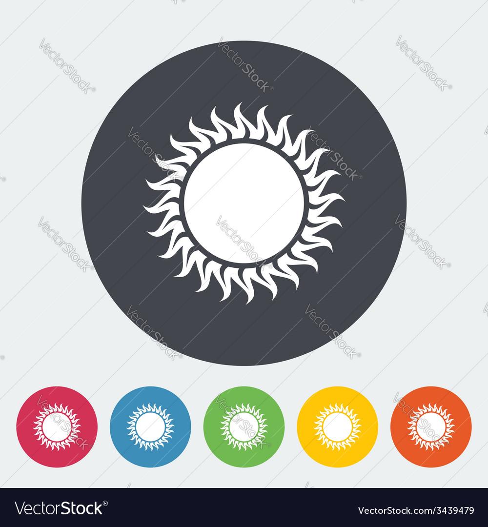 Sun flat icon vector | Price: 1 Credit (USD $1)