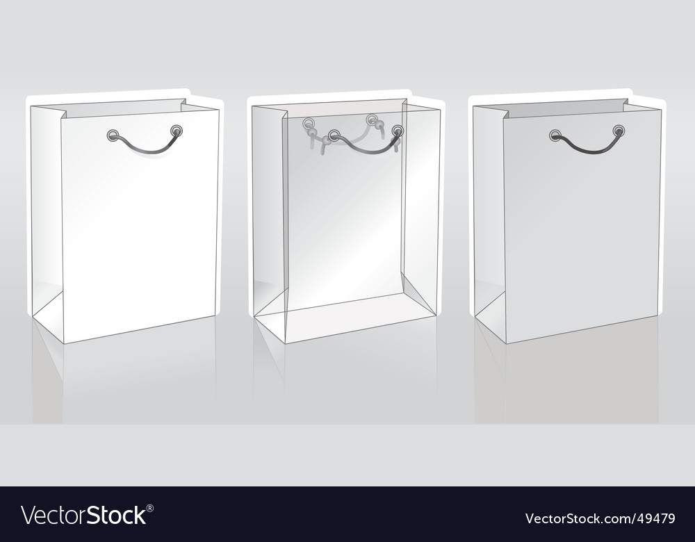 Three shopping packets vector | Price: 1 Credit (USD $1)