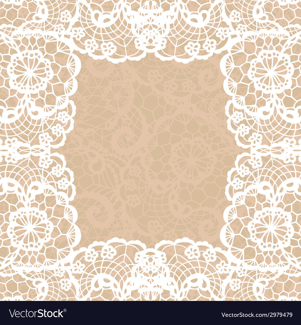Vintage lace invitation card vector | Price: 1 Credit (USD $1)