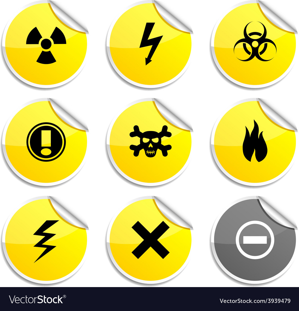Warning stickers vector | Price: 1 Credit (USD $1)