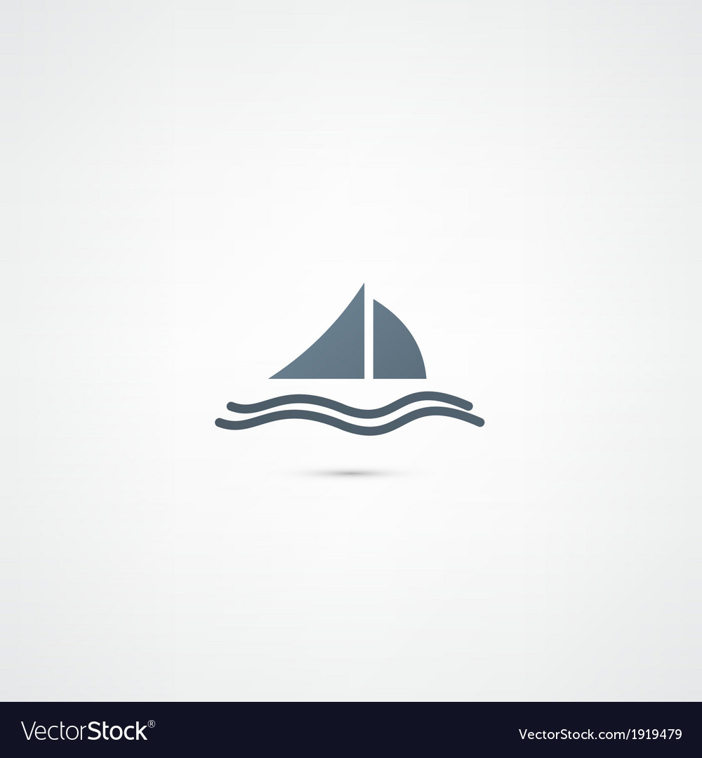 Yacht icon vector | Price: 1 Credit (USD $1)