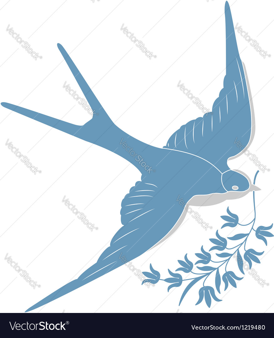 Blue swallow vector | Price: 1 Credit (USD $1)