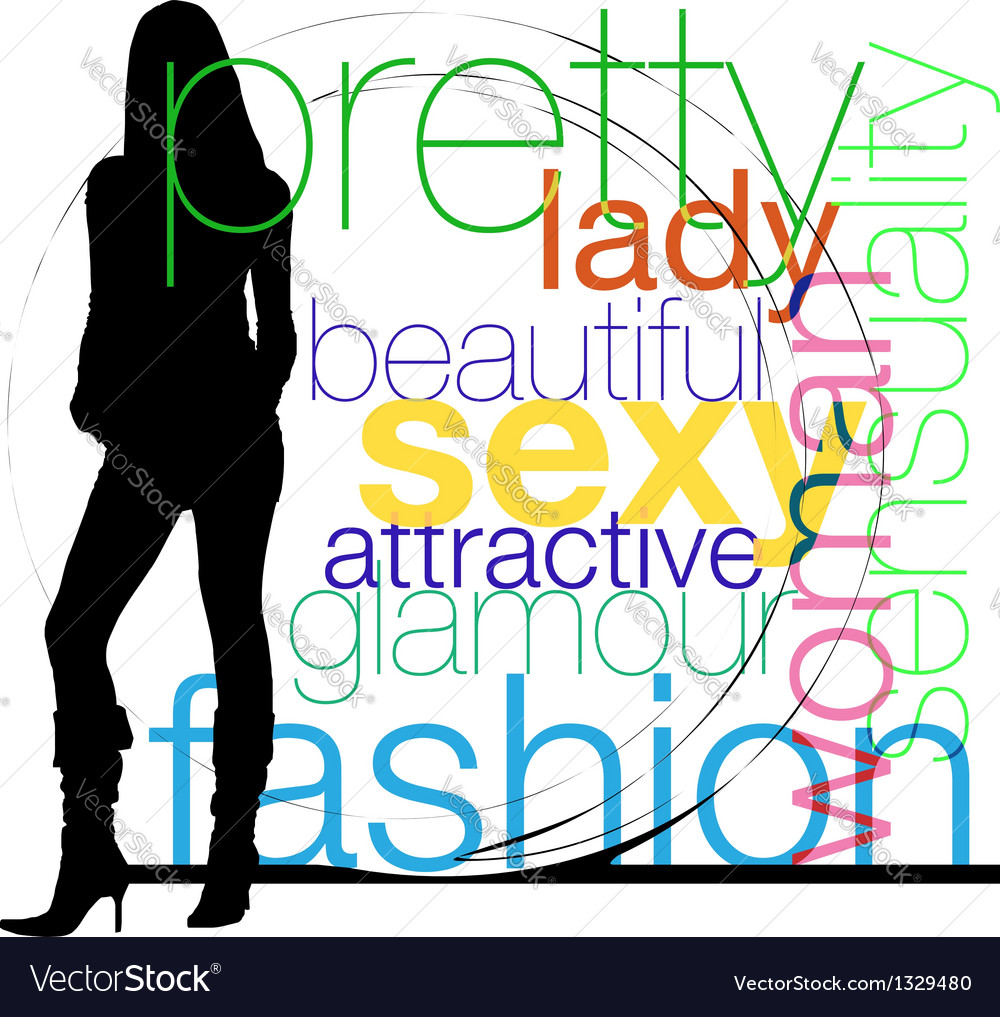 Fashion woman silhouette vector | Price: 1 Credit (USD $1)
