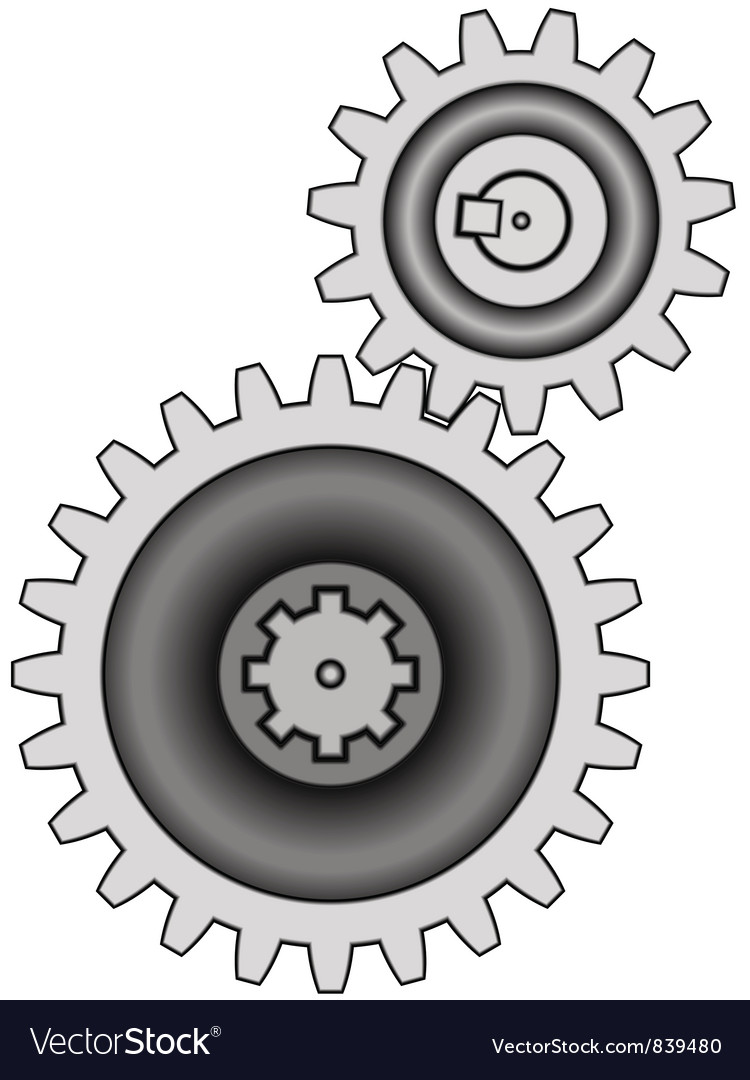 Gear pair vector | Price: 1 Credit (USD $1)