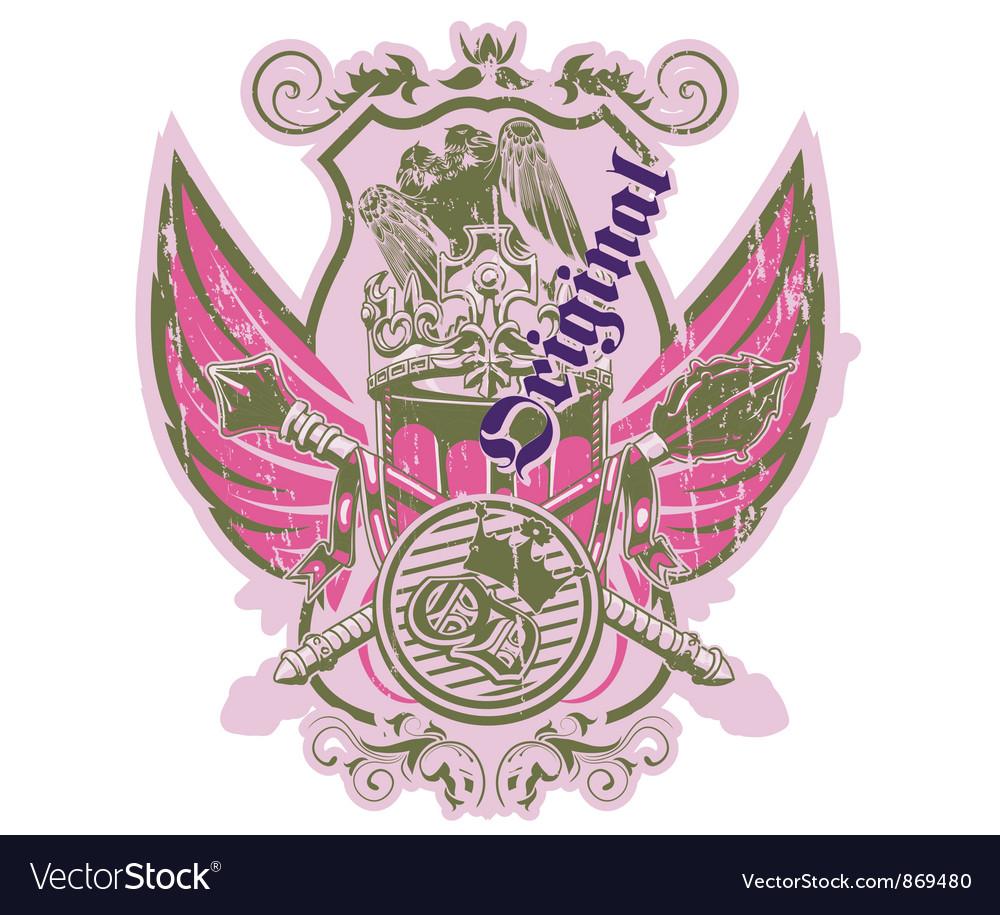 Grunge label vector | Price: 1 Credit (USD $1)