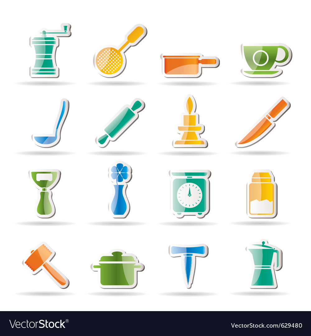 Kitchen and household tools vector   Price: 1 Credit (USD $1)