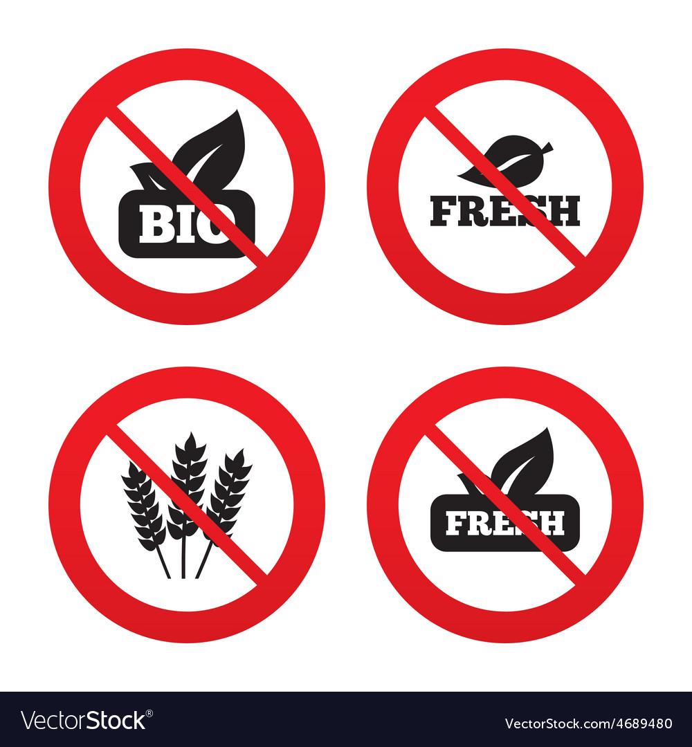 Natural fresh bio food icons vector   Price: 1 Credit (USD $1)