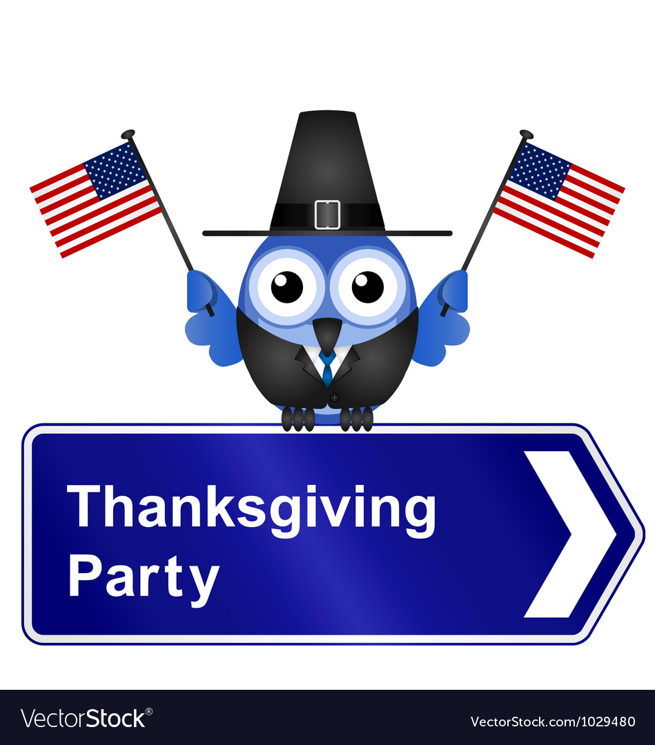 Thanksgiving day party sign vector | Price: 1 Credit (USD $1)