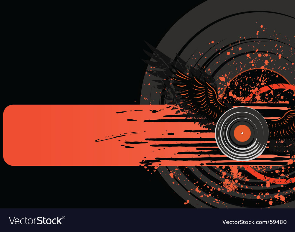 Vinyl grunge vector | Price: 1 Credit (USD $1)