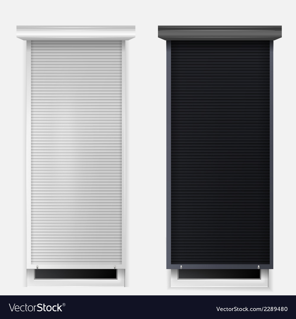 Windows with louvers vector | Price: 1 Credit (USD $1)