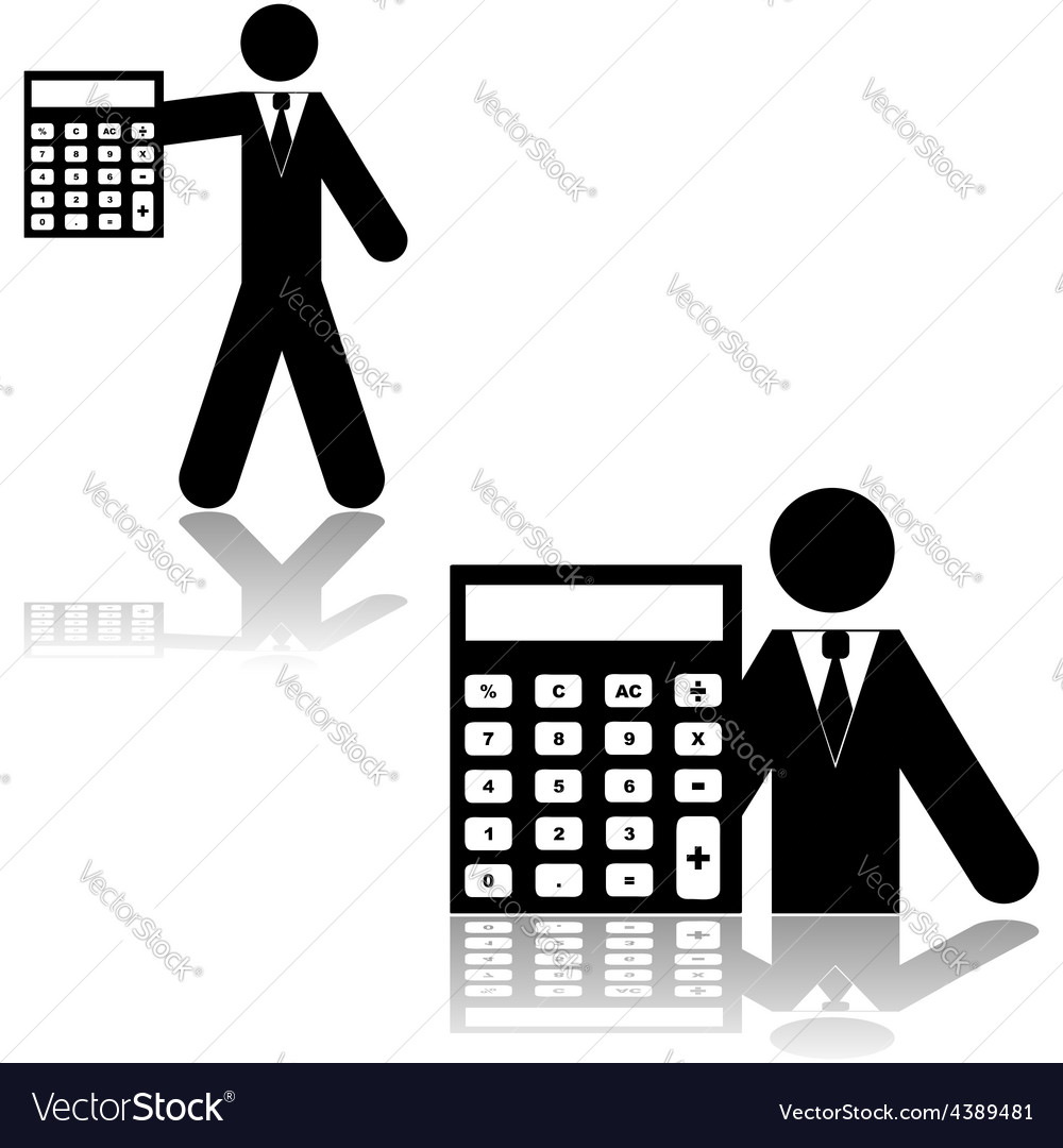 Accountant vector | Price: 1 Credit (USD $1)