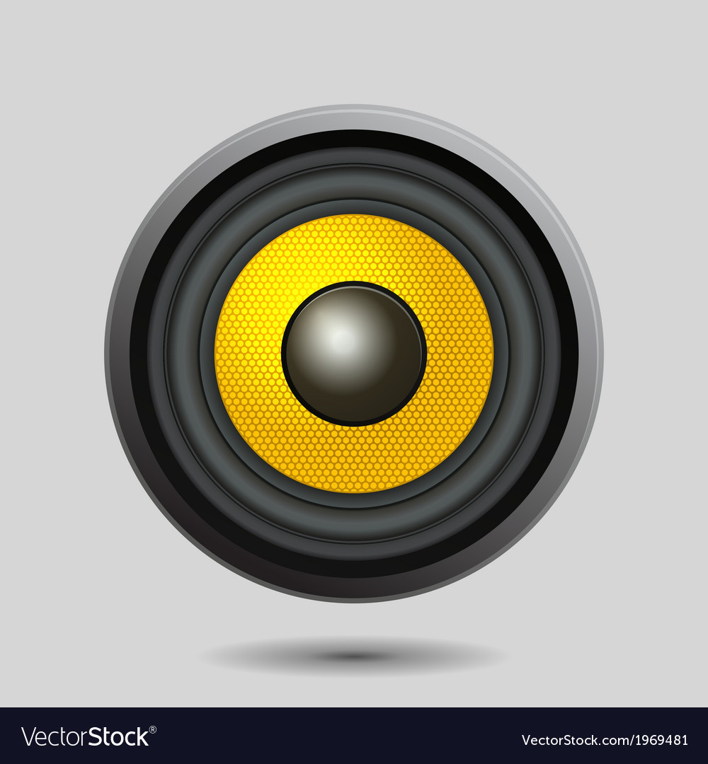 Audio speaker on light background vector | Price: 1 Credit (USD $1)