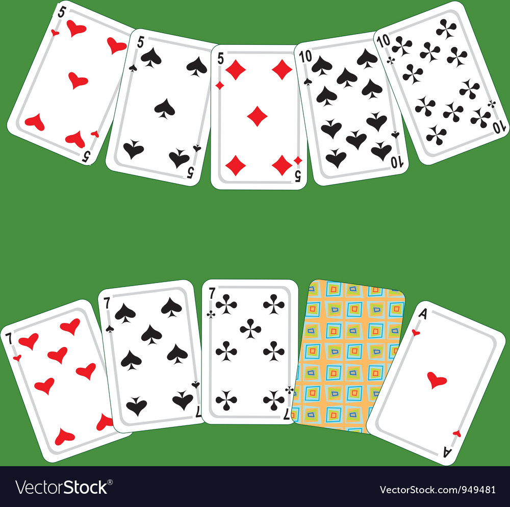 Card poker vector | Price: 1 Credit (USD $1)