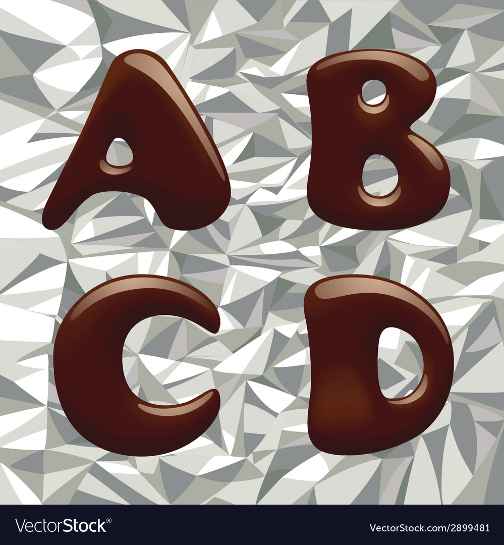 Chocolate alphabet letters vector | Price: 1 Credit (USD $1)