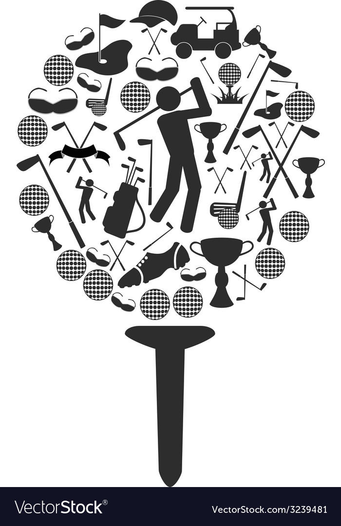 Golf symbol vector | Price: 1 Credit (USD $1)