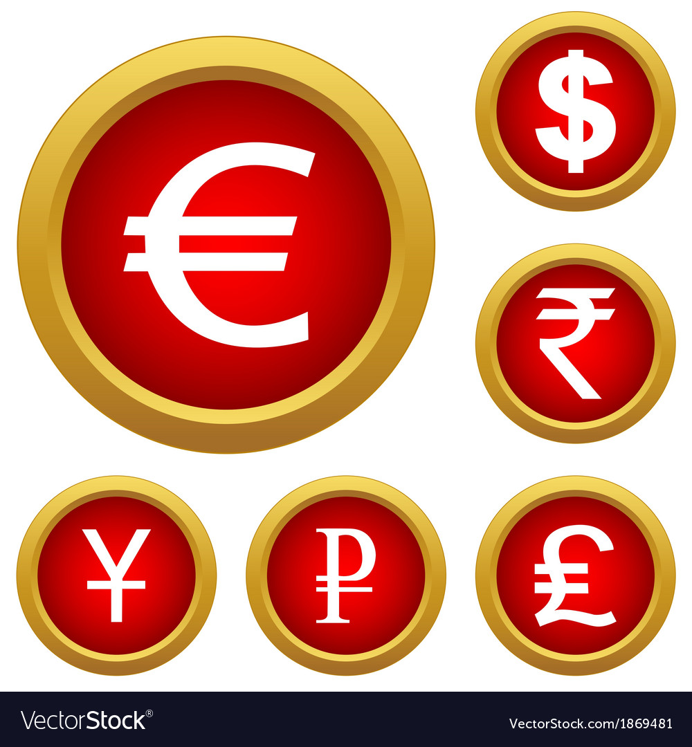 Money set buttons vector | Price: 1 Credit (USD $1)