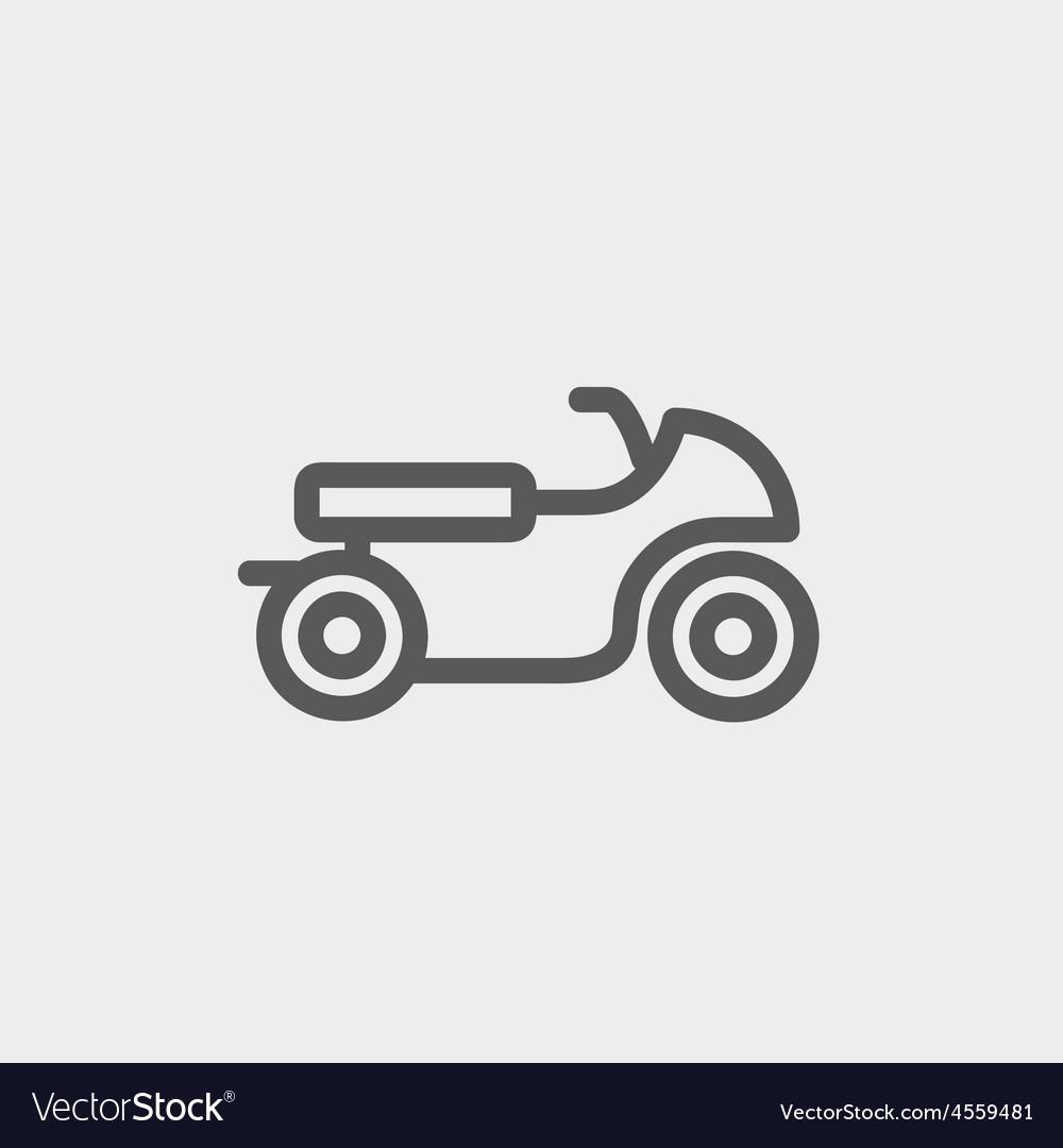 Motor thin line icon vector | Price: 1 Credit (USD $1)