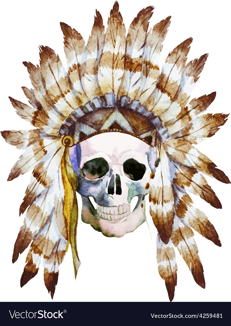 Native skull vector | Price: 1 Credit (USD $1)