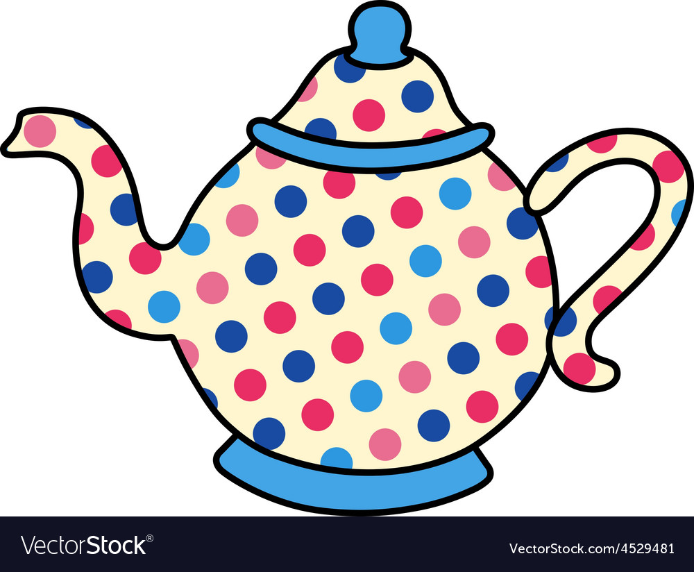 Polka dot tea pot vector | Price: 1 Credit (USD $1)