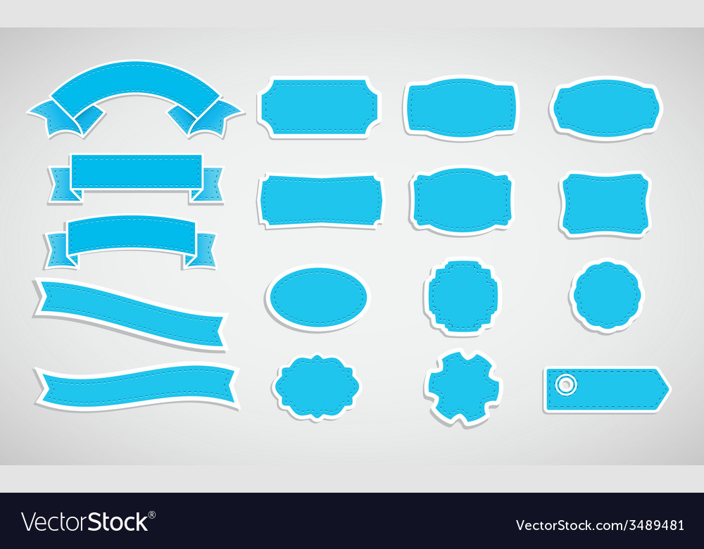 Set of labels and tapes vector | Price: 1 Credit (USD $1)