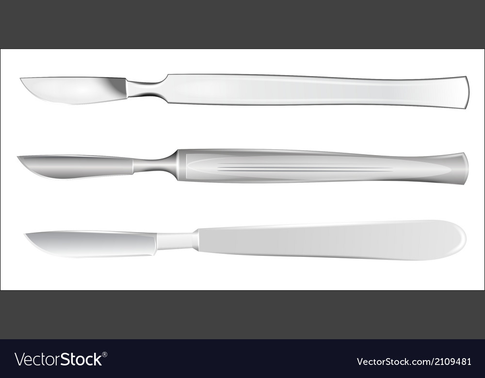 Set of medical scalpels vector | Price: 1 Credit (USD $1)