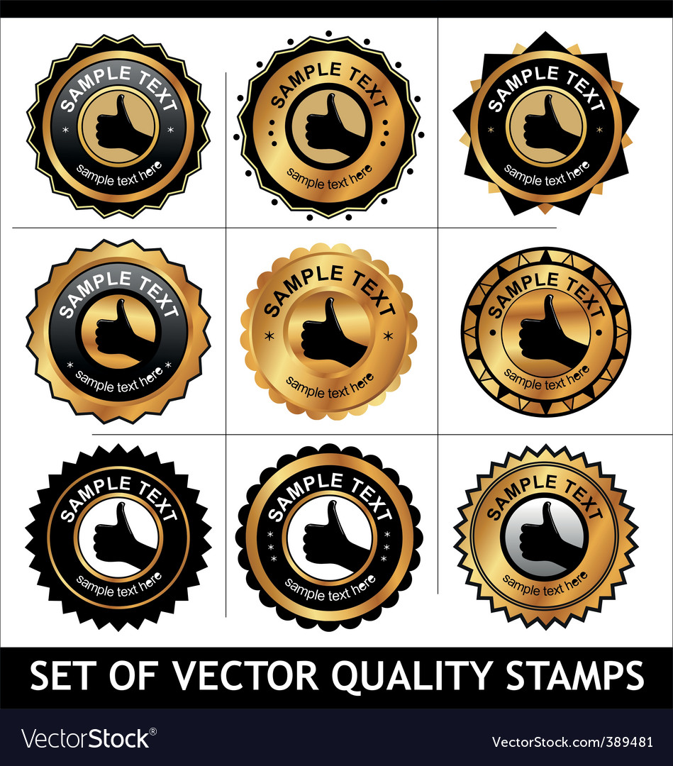 Set of quality stamps vector | Price: 1 Credit (USD $1)